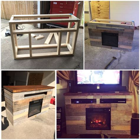pallet projects   electric fireplace tv stand