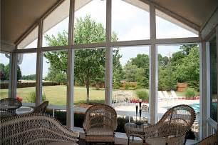 Sunroom Decor Ideas  Windows For Screened Porch Sunroom Big Clear Glass Repl
