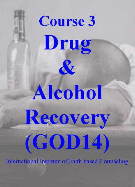 drug alcohol recovery god  program