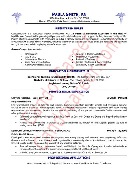 registered resume sle