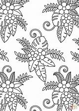 Coloring Pattern Floral Pages Printable Adults Flower Sheets Flowers Drawing Dot Categories sketch template