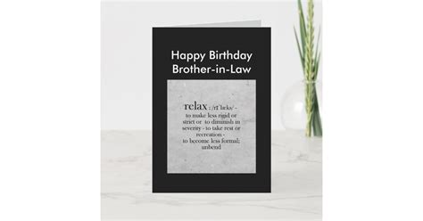 birthday brother  law definition relax humor card