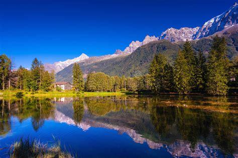 The Mountain Resort Chamonix Provence Stock Photo
