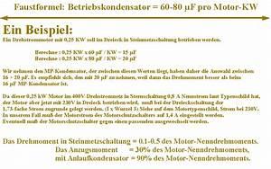 Betriebskondensator Berechnen : steinmetzmotorschaltung ~ Themetempest.com Abrechnung