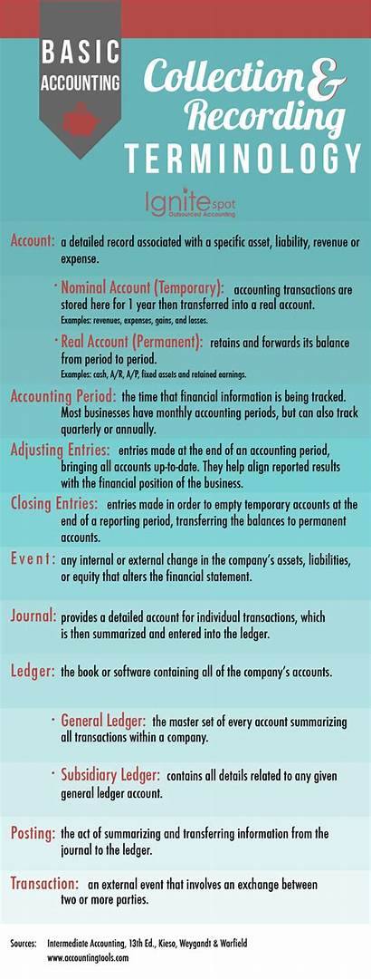 Accounting Basic Terms Recording Infographic Jargon Collecting