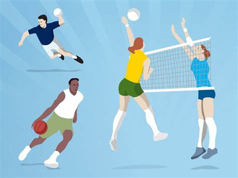 Ball Games Vector Art & Graphics
