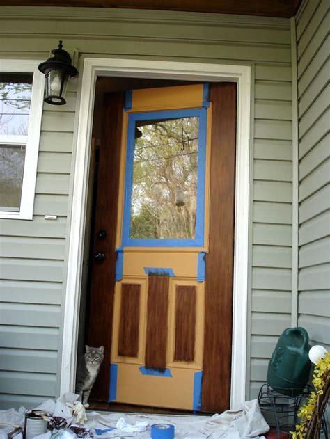 Or, How To Gel Stain An Embossed Fiberglass Door. Remember