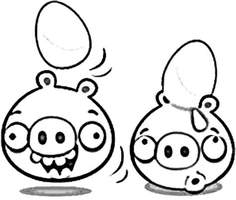 Kleurplaat Angry Birds Pig by Bad Piggies Coloring Pages