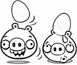 Angry Bird Pigs Hatching from Eggs Coloring Pages | Bulk Color
