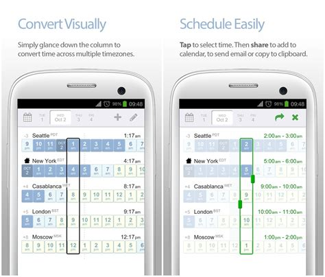 time date timezone conversion apps android
