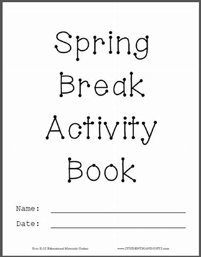 Spring Break Activity Quotes Worksheets Printable Grade