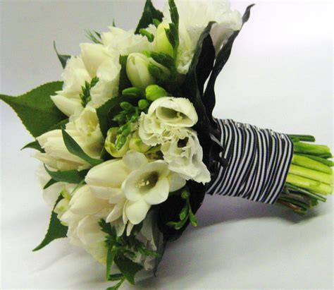 Miss Lily Flowers Black And White Themed Bridal Bouquet