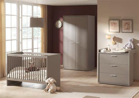chambre complete de bébé chambre bébé complète contemporaine coloris basalte gris