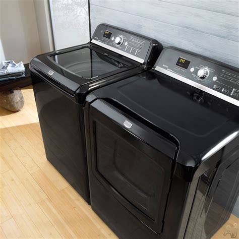 black washer and dryer maytag mvwb850wb 28 quot top loader washer with 4 0 cu ft