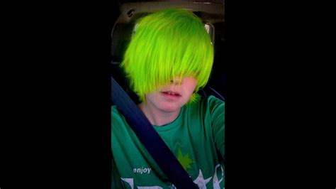 How I Dyed My Hair Neon Green Electric Lizard Manic