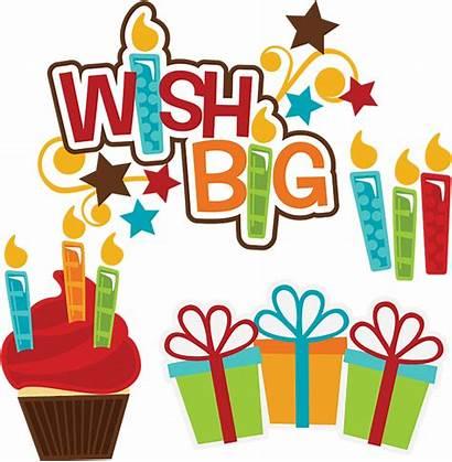Birthday Happy Clip Svg Cupcake Wish Scrapbooking