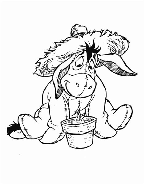 coloring pages eeyore coloring home