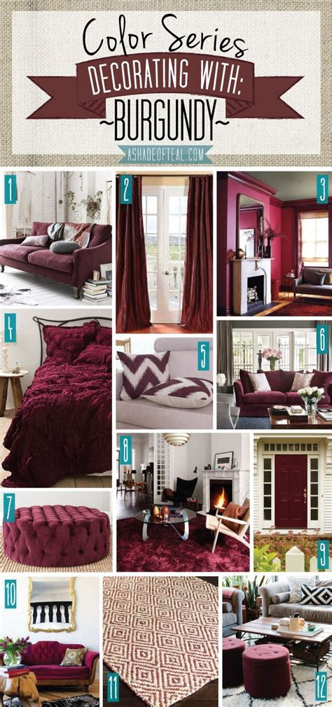 Color Series; Decorating with Burgundy   deco   Pinterest
