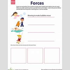 Learn About Force  Worksheet Educationcom