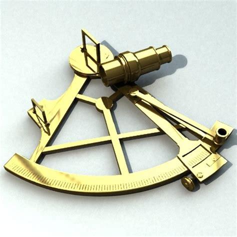 Old Boat Navigation Tools 3ds sextant navigation boat