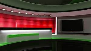 News Studio Set Background Animation With Desk Stock ...