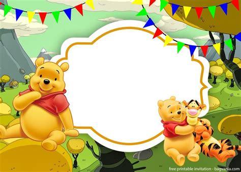 printable winnie  pooh invitation template