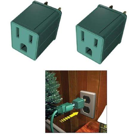 Set Of 2 Stanley Green 3  Prong To 2  Prong Outlet