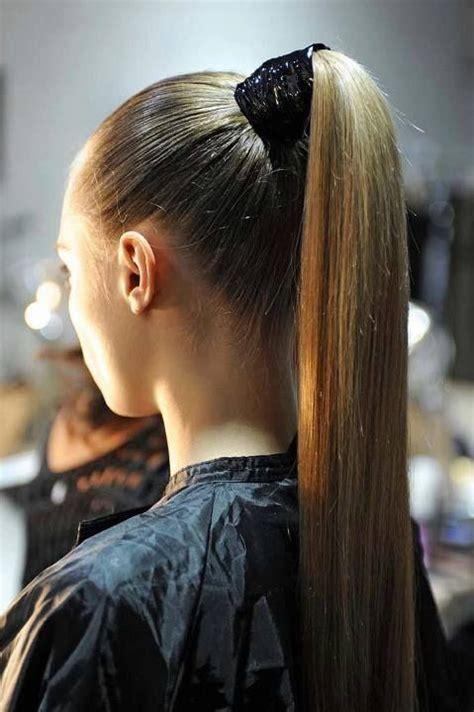 elegant  simple hairdo   event high ponytail