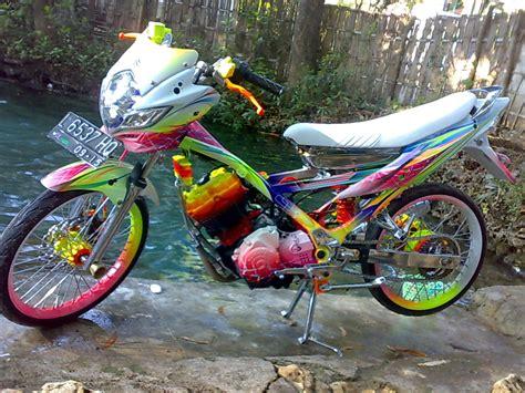 Satria Drag by Gambar Modifikasi Drag Bike Motor Satria Fu Drag 150 Terbaru