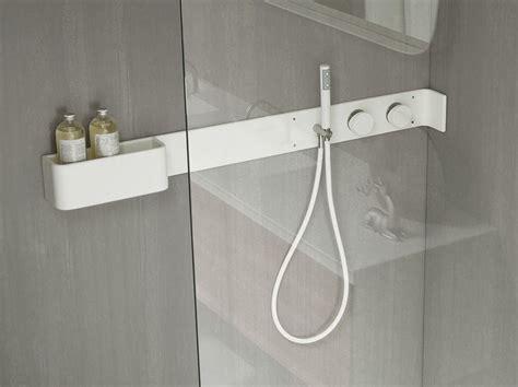 mensola doccia mensola doccia con comandi in corian 174 e doccino siliconico