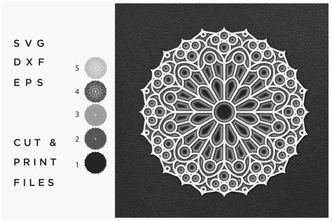 With 7 different layers, including the background layer this mandala is going to make a gorgeous paper cut project, layered svg or whatever you want it to be. Mandala SVG, Cut file Mandala, Cut multilayer Mandala, 3D ...