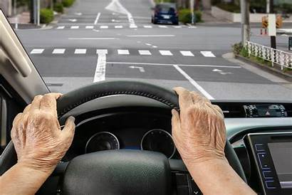 Driving Drive Driver Into Elderly Senior Seniors