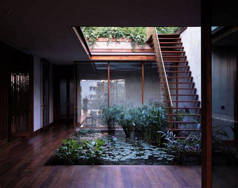 central courtyard pool exterior staircase interior design ideas house plans