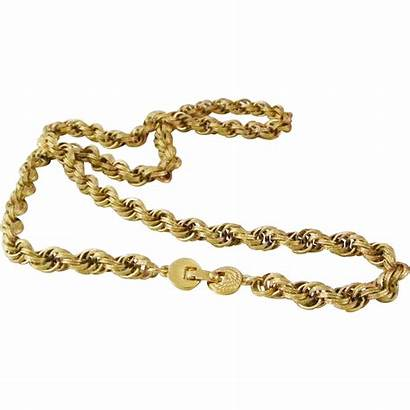 Monet Gold Rope Braided Necklace Chain Tone