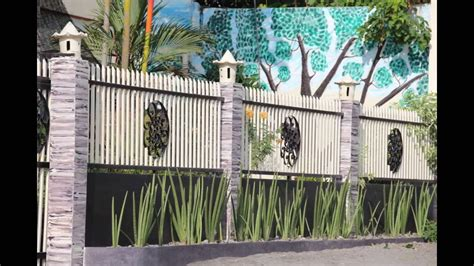 modern house fence design philippines design  home