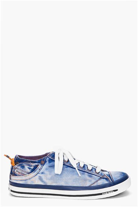 diesel dutch denim expoiak  top sneakers  blue