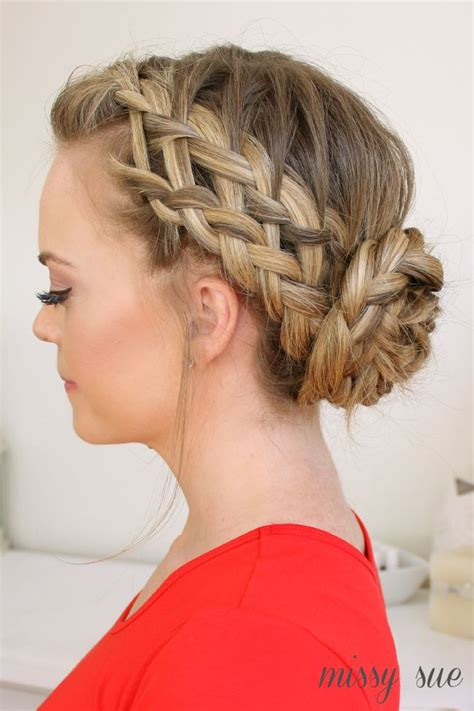 10 fabulous french braid updo hairstyles pretty designs