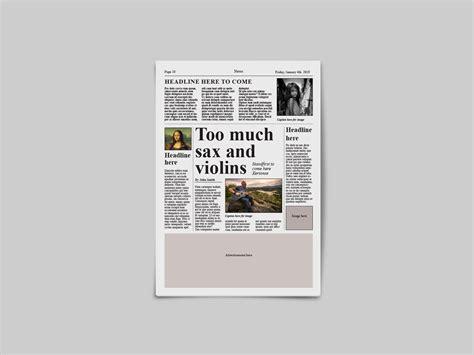 Make your own tabloid newspaper. Tabloid Newspaper Template By Dene Studios | TheHungryJPEG.com