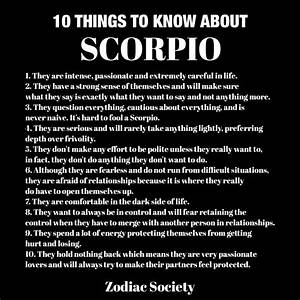 10 things to kn... Zodiac Sign Scorpio Quotes