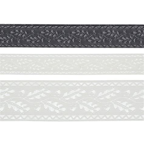 leaf vine jacquard ribbon trim