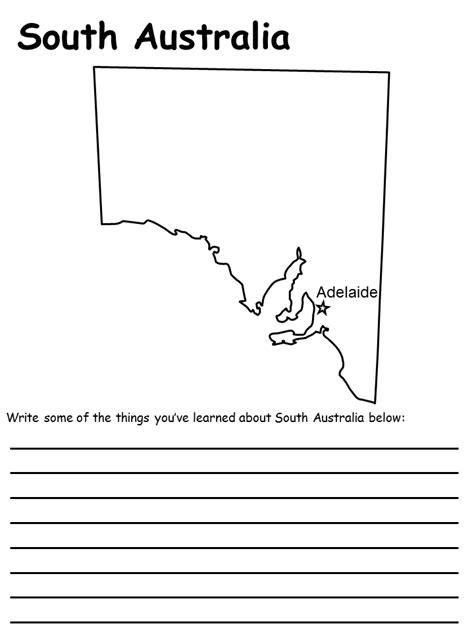 south australia state map