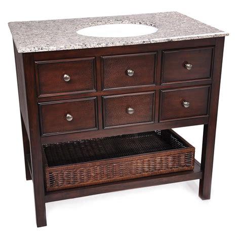 simpli home 36 quot burnaby bathroom vanity with granite top
