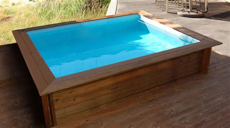 habitat et jardin piscine bois carr 233 e lulu 2 26 x 2 26 x 0 71 m pas cher achat vente