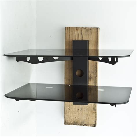 cable box shelf new component shelf 2 tier wall mount dvd cable box