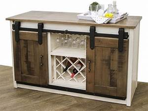 Barn Door Wine Server Dutch Craft Furniture