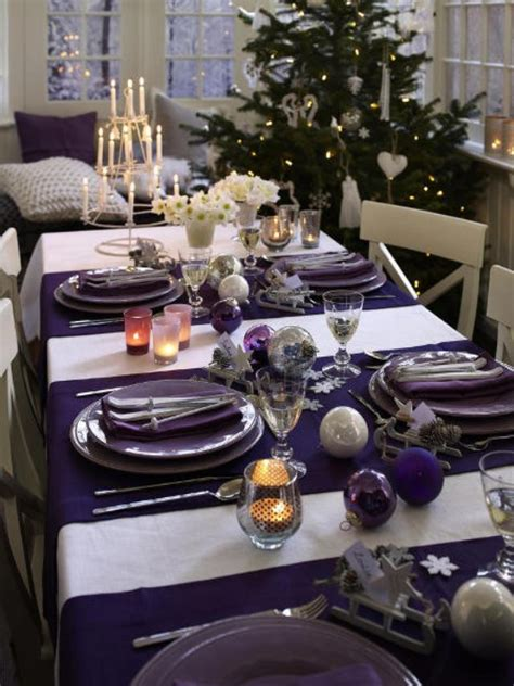 silver and purple christmas table decorations 45 diy christmas table setting centerpieces ideas family holiday net guide to family holidays