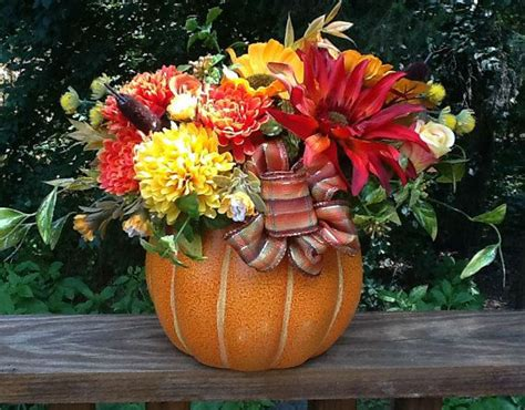 Fall Centerpiece Tabletop Decoration Silk Flowers In