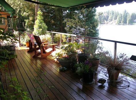 Deck Overlooking Lake  Picture Of Cottage Lake Gardens