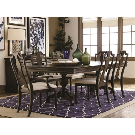 bassett provence formal dining room table and chair set
