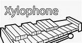 Coloring Xylophone Letter Pages sketch template